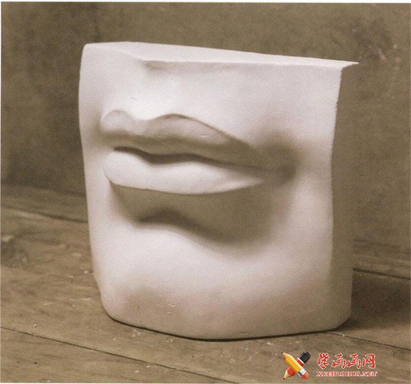 素描石膏像嘴的画法步骤图解(1)