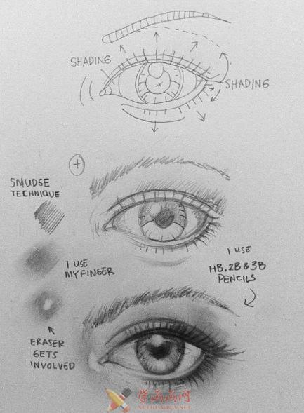 素描眼睛的画法及图片