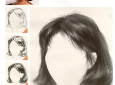 素描头发怎么画?女性中长发的素描画法步骤图解【高清图片】