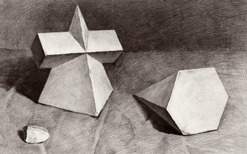 素描几何体图片