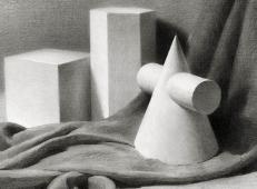素描几何体石膏图片系列一