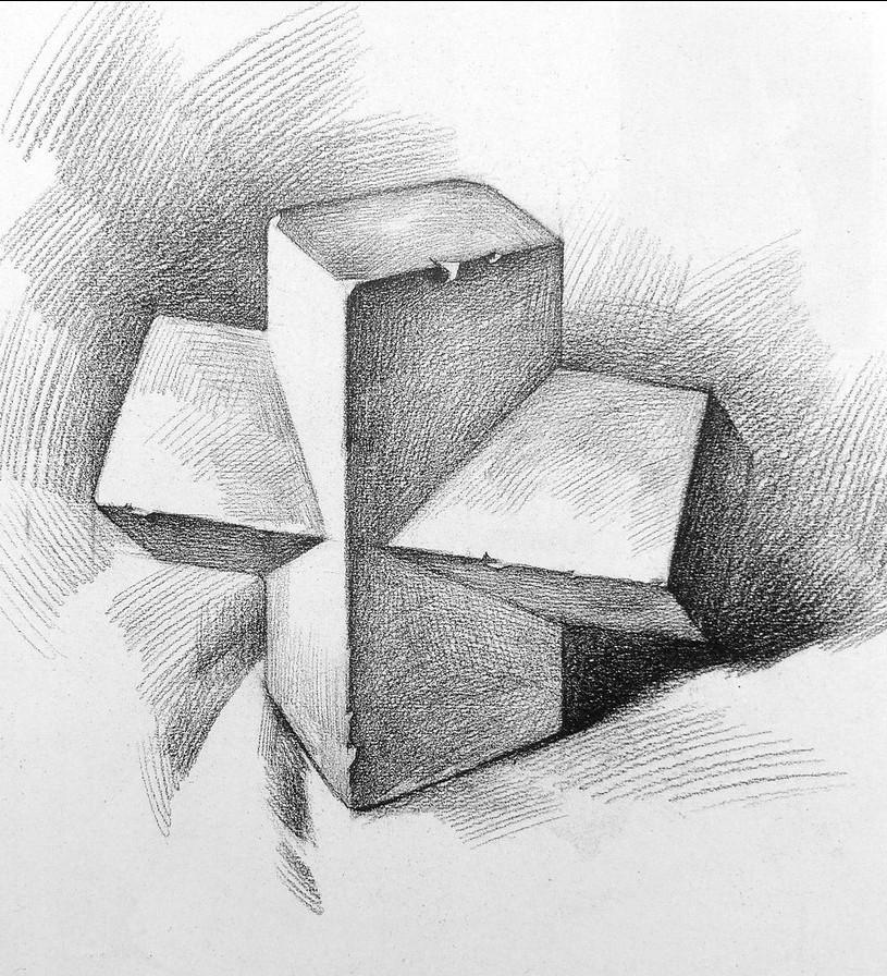 素描石膏几何体图片系列二