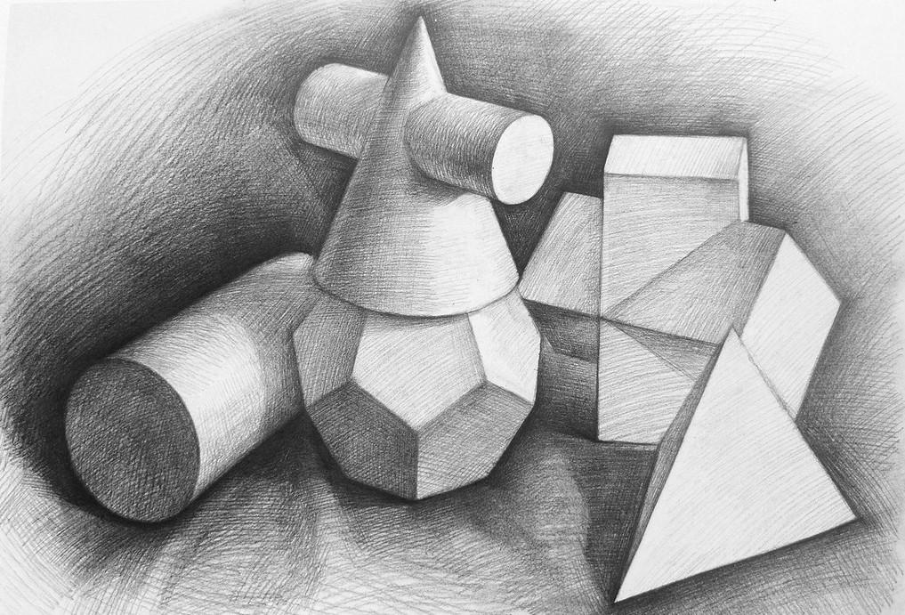 素描石膏几何体图片2