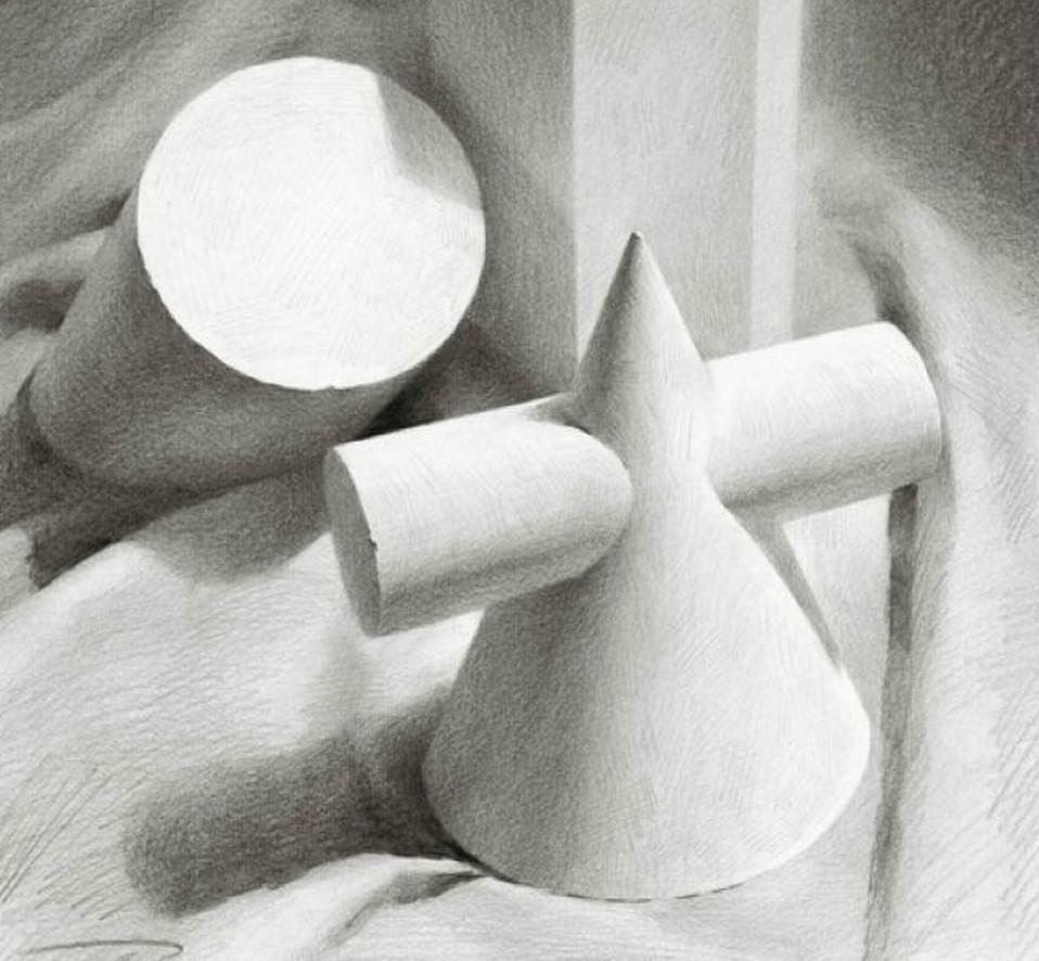 素描石膏几何体图片系列二(10)