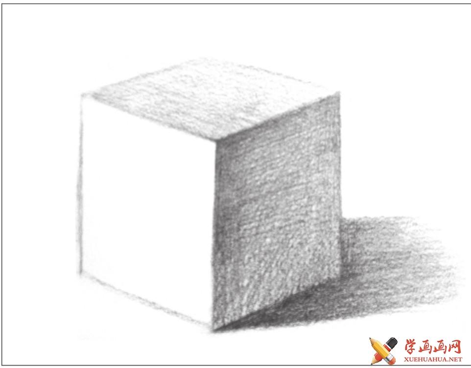 素描几何体_正方体的画法