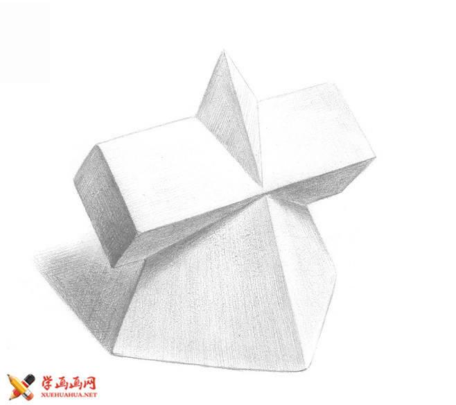 素描几何体_十字贯穿体的画法(1)