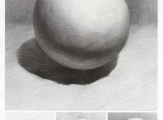 素描几何体_素描石膏球体的画法资料图片步骤解析