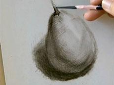视频:素描入门自学基础—怎么画梨