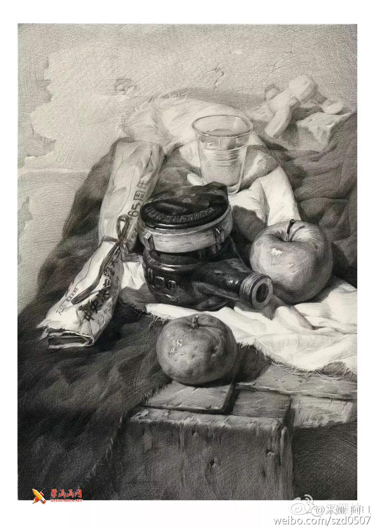 45幅优秀静物素描画欣赏(4)