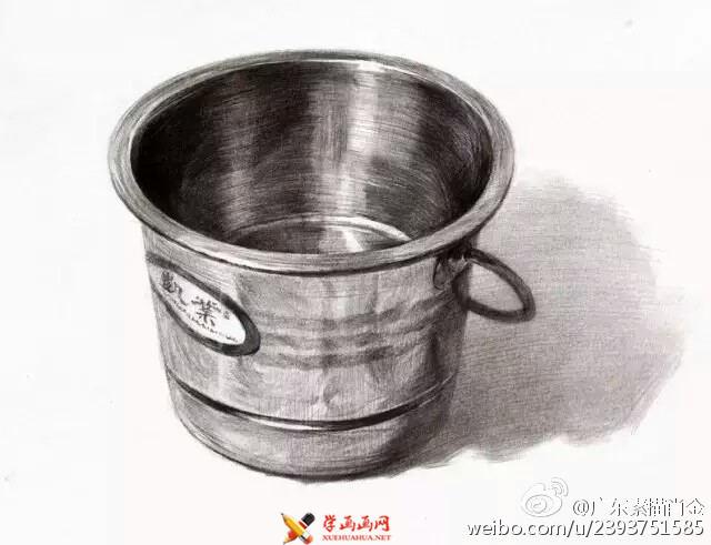 9幅不锈钢物体单体素描范画(4)