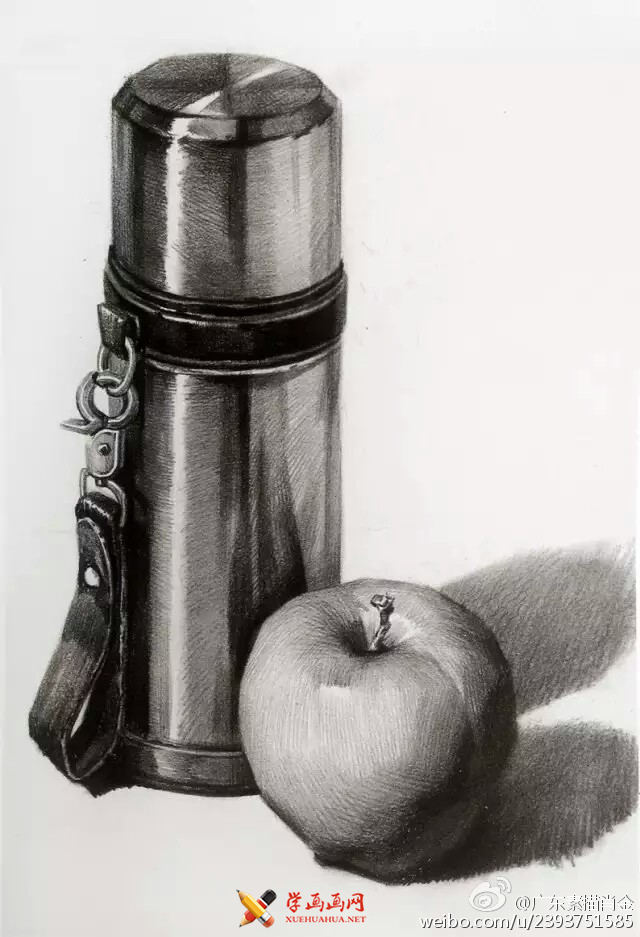 9幅不锈钢物体单体素描范画(9)