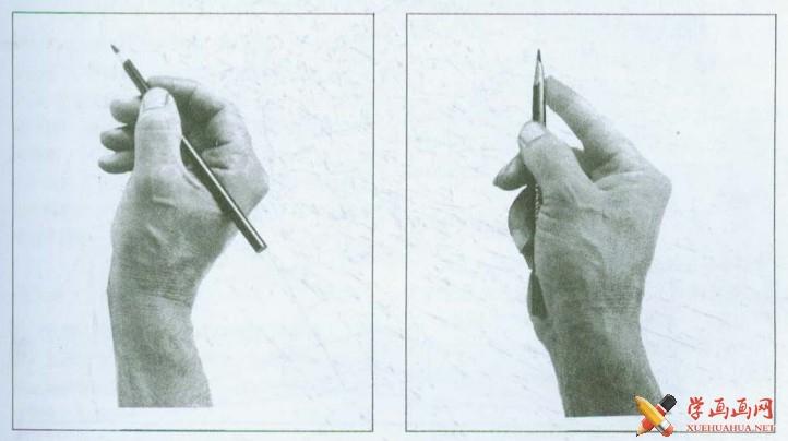 素描常用的握笔方法