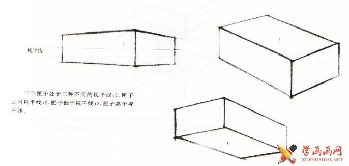 凳子两点透视图