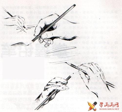 正确的握笔姿势