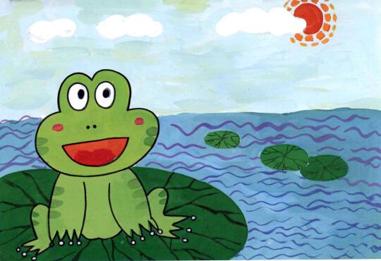 学画儿童画教程-可爱小青蛙