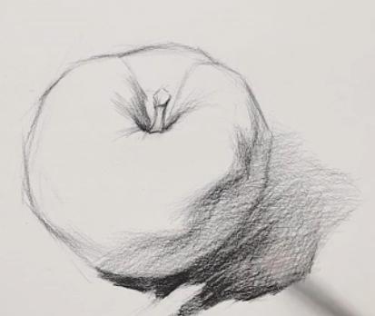素描入门教程:怎么画苹果详细步骤(5)