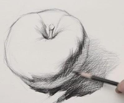 素描入门教程:怎么画苹果详细步骤(6)