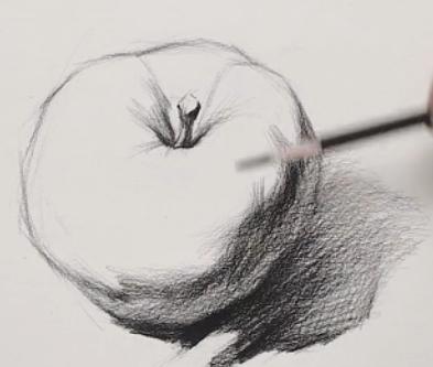 素描入门教程:怎么画苹果详细步骤(7)