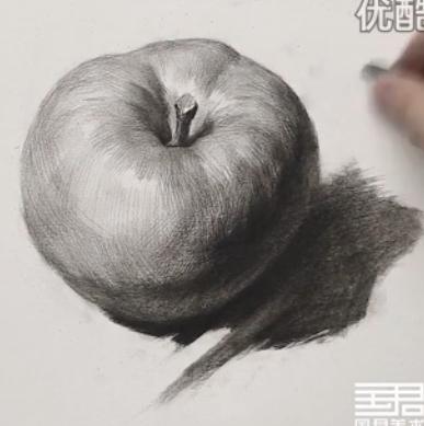 素描入门教程:怎么画苹果详细步骤(11)