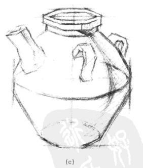 素描入门教程:单体静物的打形方法及步骤要点