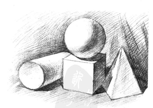 素描入门:石膏几何体的画法及注意事项(4)