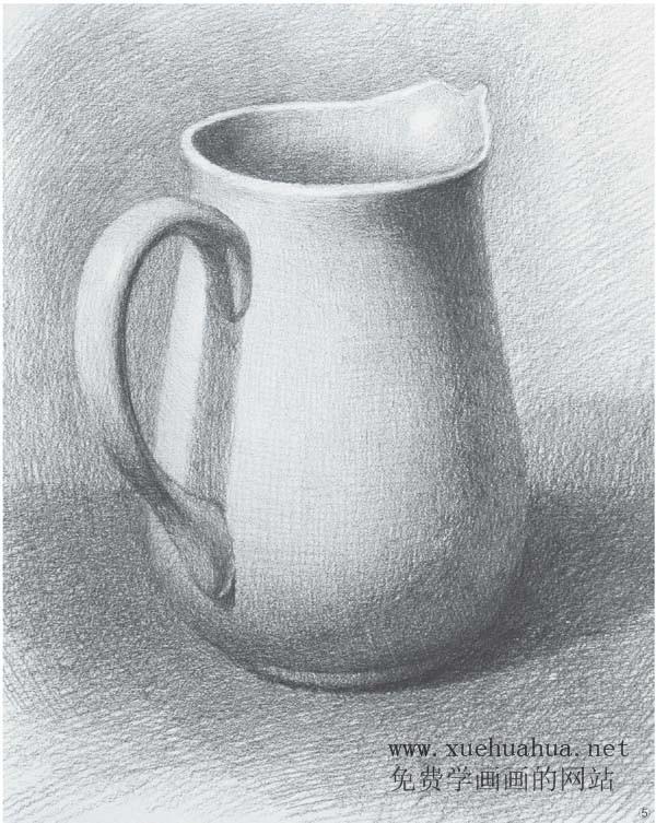 单体素描静物画法(陶罐