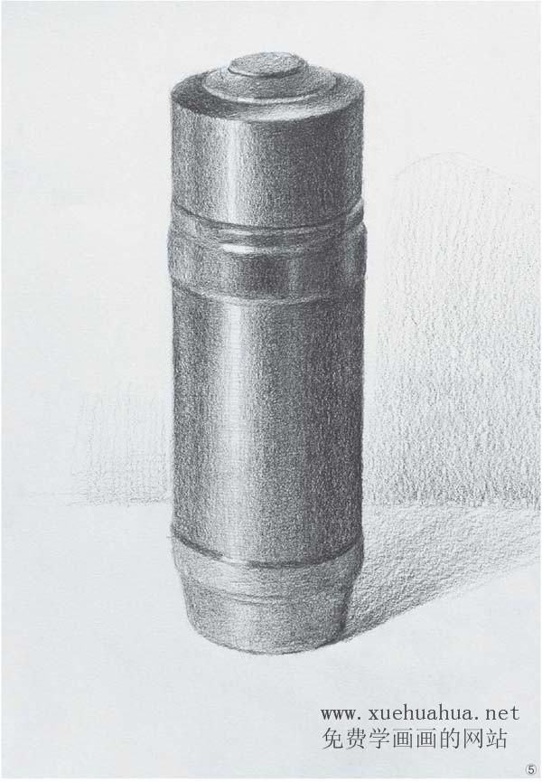 素描入门_单体素描静物画法(陶罐