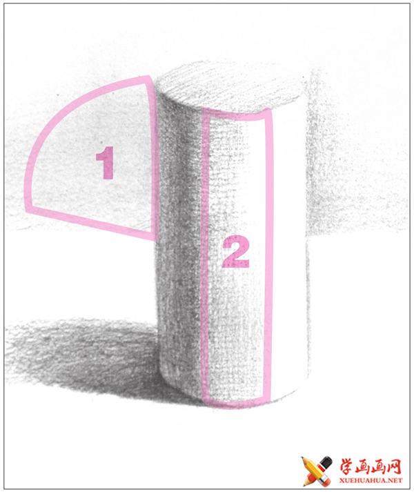 素描入门教系列程:素描几何体圆柱体的画法步骤(9)