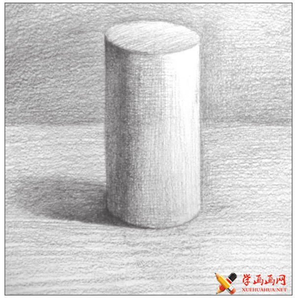 素描入门教系列程:素描几何体圆柱体的画法步骤(12)