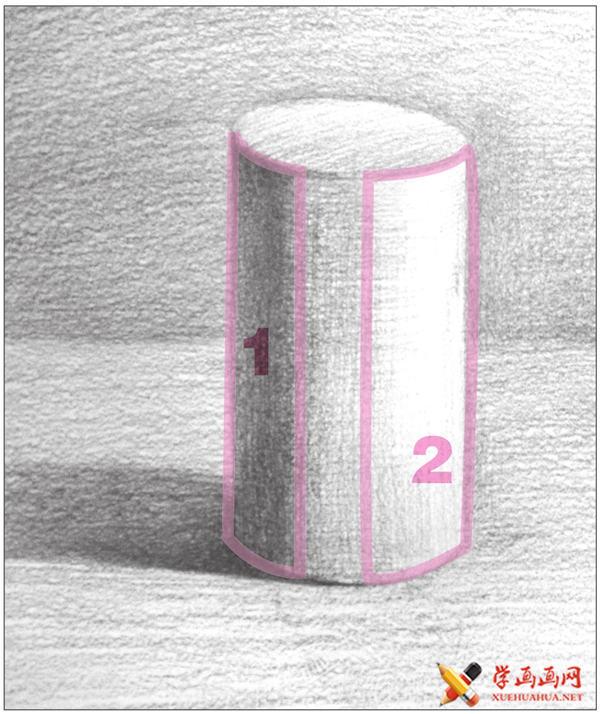 素描入门教系列程:素描几何体圆柱体的画法步骤(14)