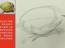 素描单个静物(水果蔬菜)的画法视频教程