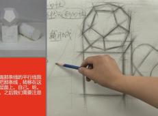 素描入门系列视频教程:素描静物的观察比例训练