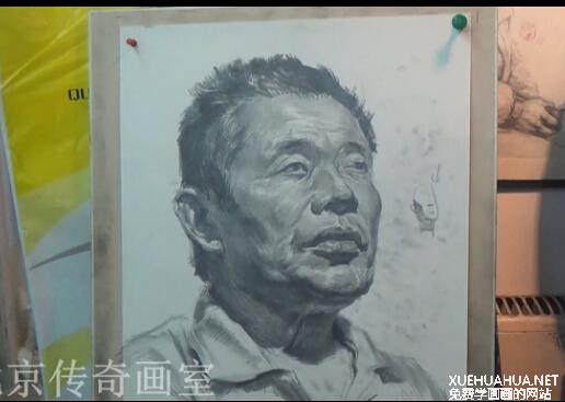 朱传奇画室男青年素描头像师范教程