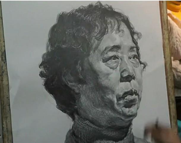 北京朱传奇画室女中年素描头像视频教程