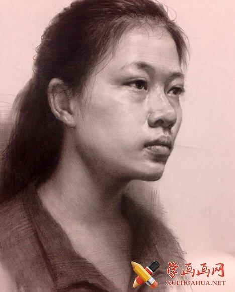 杭州老鹰画室素描头像作品欣赏(1)