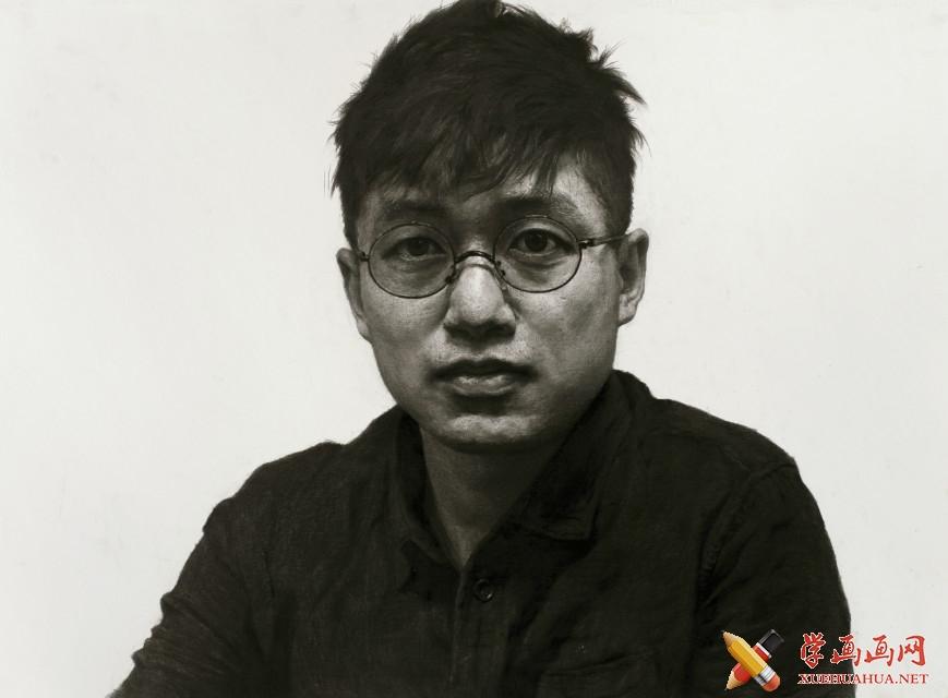 刘斌画室超写实人物素描欣赏(1)