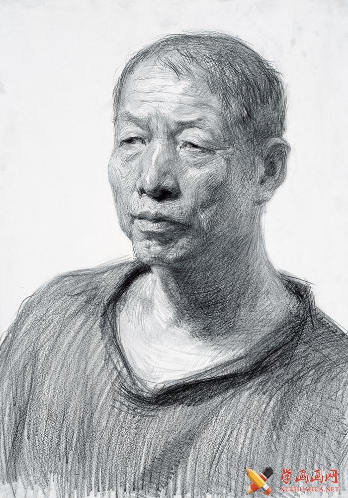央美原创画室素描头像作品欣赏(8)