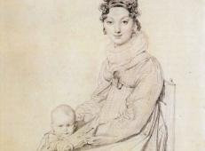 安格尔作品《亚历山大夫人和她的女儿莱蒂齐娅》.jpg