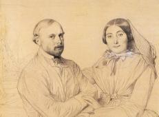安格尔素描全集《爱德蒙·拉梅尔和他的妻子,天生一对》.jpg