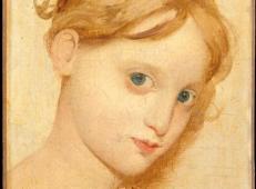 安格尔素描人物《年轻的蓝眼睛金发女孩》.jpg