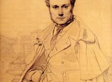 安格尔素描画《维克多·巴尔塔》.jpg