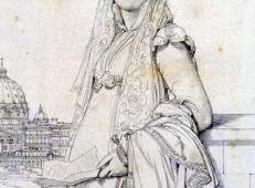 安格尔素描大全《纪尧姆·马利特夫人》.jpg