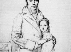 安格尔素描高清图片《查尔斯·哈扎德和他的女儿玛格丽特素描》.jpg