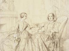 查尔斯伯爵夫人和她的女儿克莱尔素描.jpg