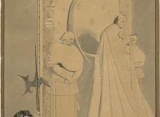 安格尔素描全集《罗马教皇七世执掌圣彼得》.jpg