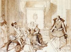 亨利四世陪他的孩子们玩耍素描.jpg