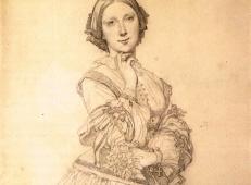 安格尔素描速写《塞西尔·潘寇克小姐》.jpg