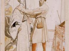 安格尔素描画《安东尼和丁托列托》.jpg