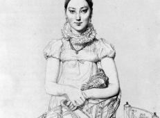 安格尔肖像画《珍妮·哈扎德小姐》.jpg