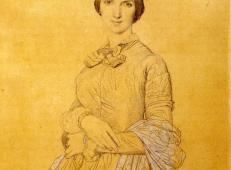 安格尔素描欣赏《伊波利特·弗兰德林夫人》.jpg